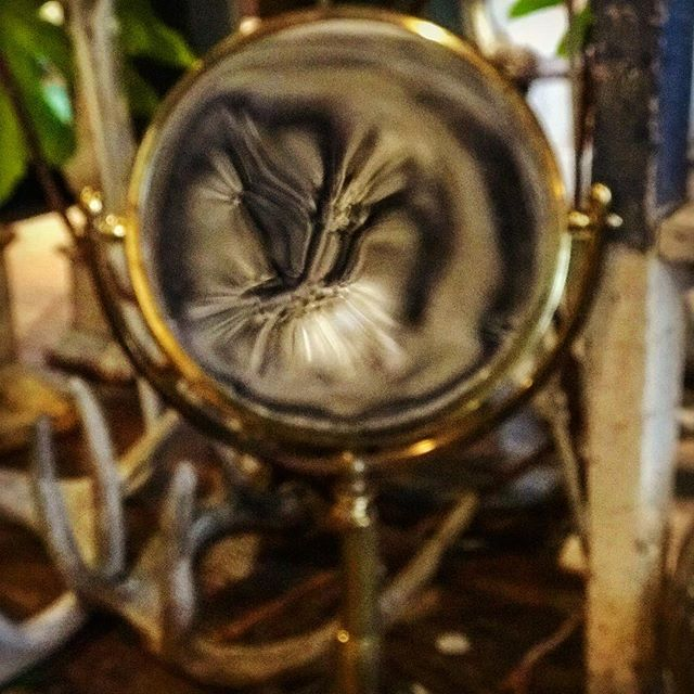 This big magnifying glass caught my eye at a flower shop. #obsessed
