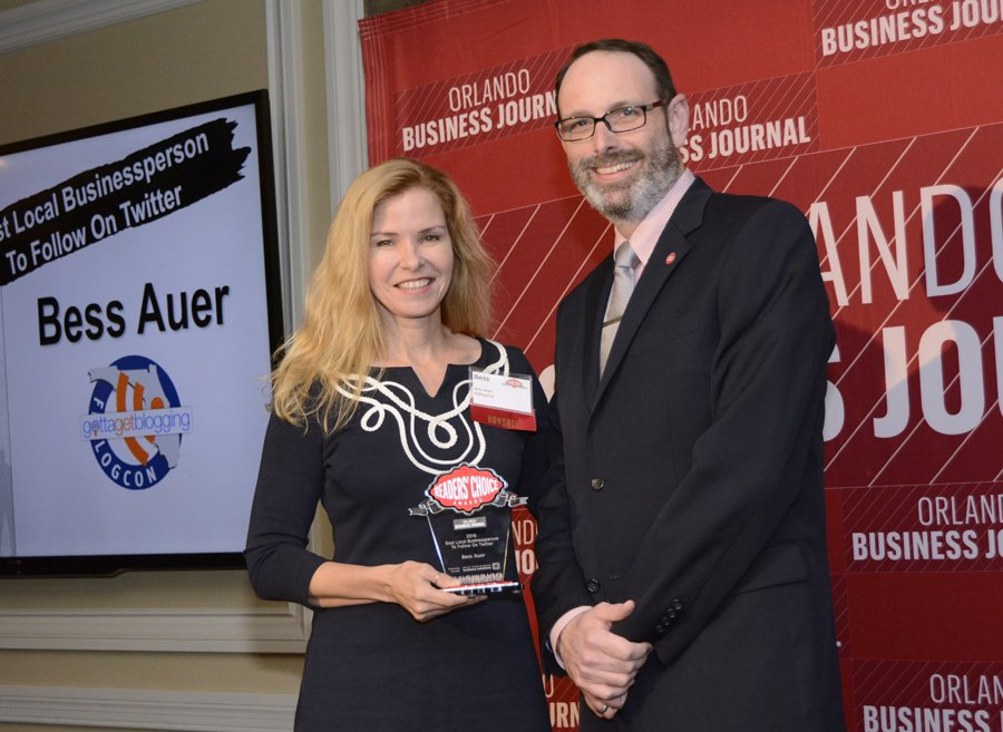 Named Best Local Business Person to Follow on Twitter