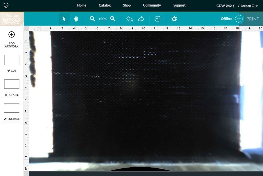 Plywood Guide in Glowforge App