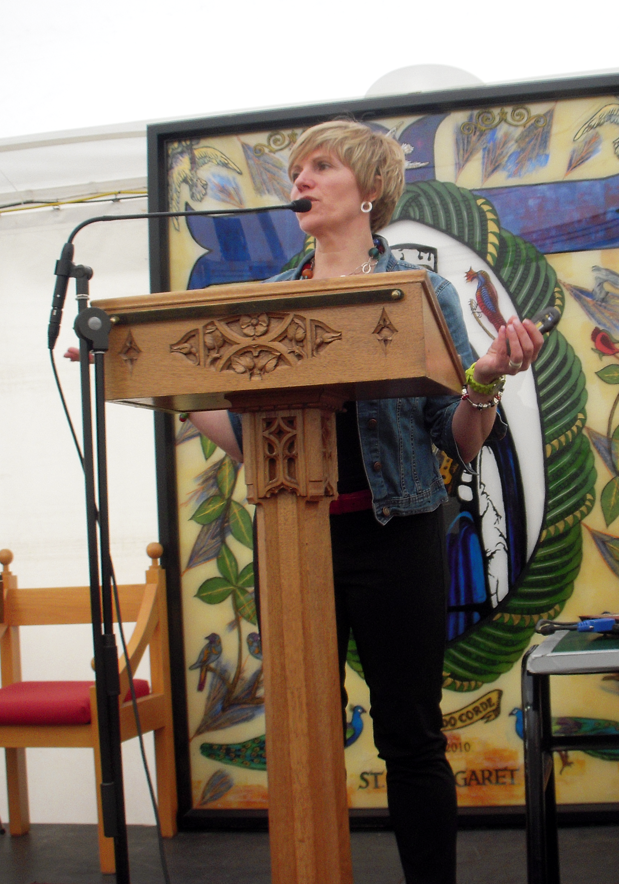KATY SPEAKing AT St Margaret's College, Christchurch, NZ