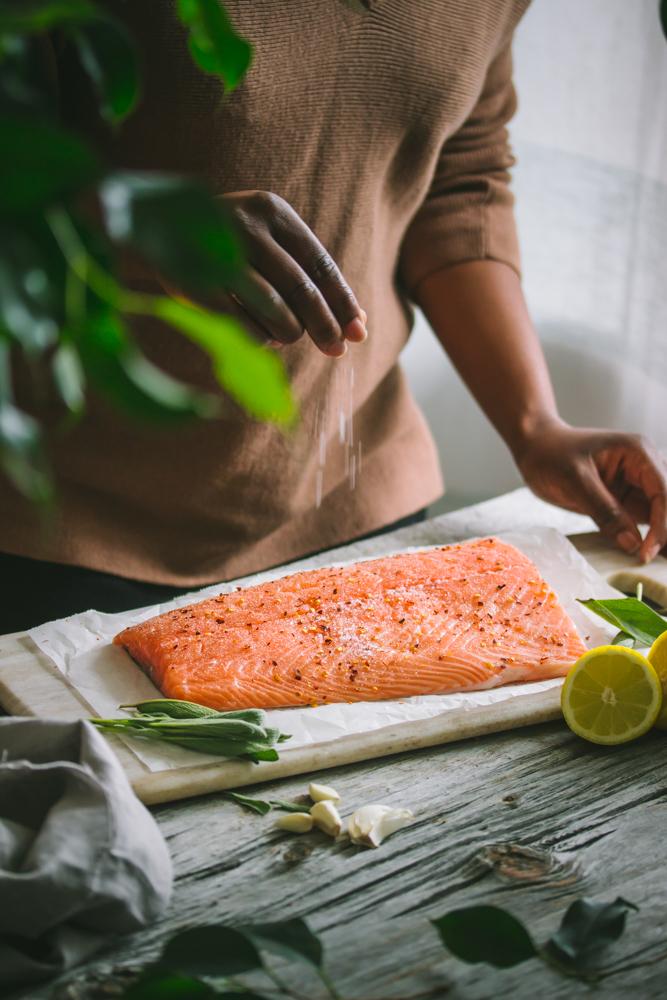 Salt on Salmon
