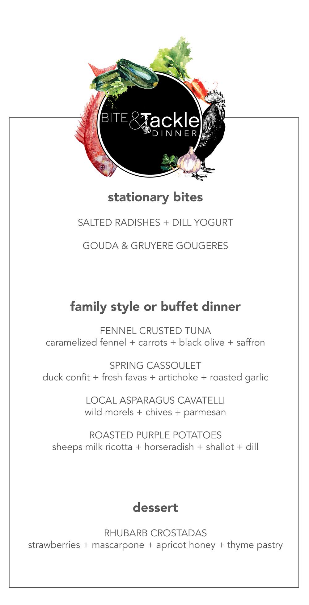 BITE & Tackle NYC Spring Dinner Menu