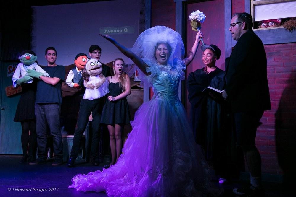 """Avenue Q"" with OB Playhouse; by John Howard"