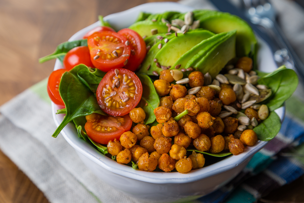 Vegetarian Avocado Buddha Bowl