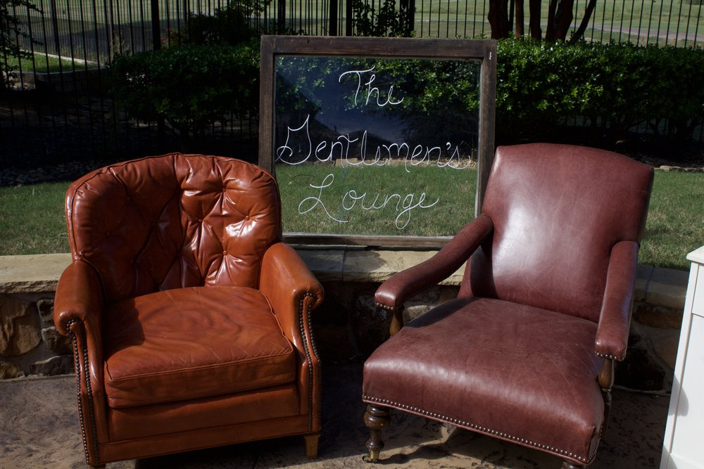 LEATHER LOUNGE CHAIRS-$50 each