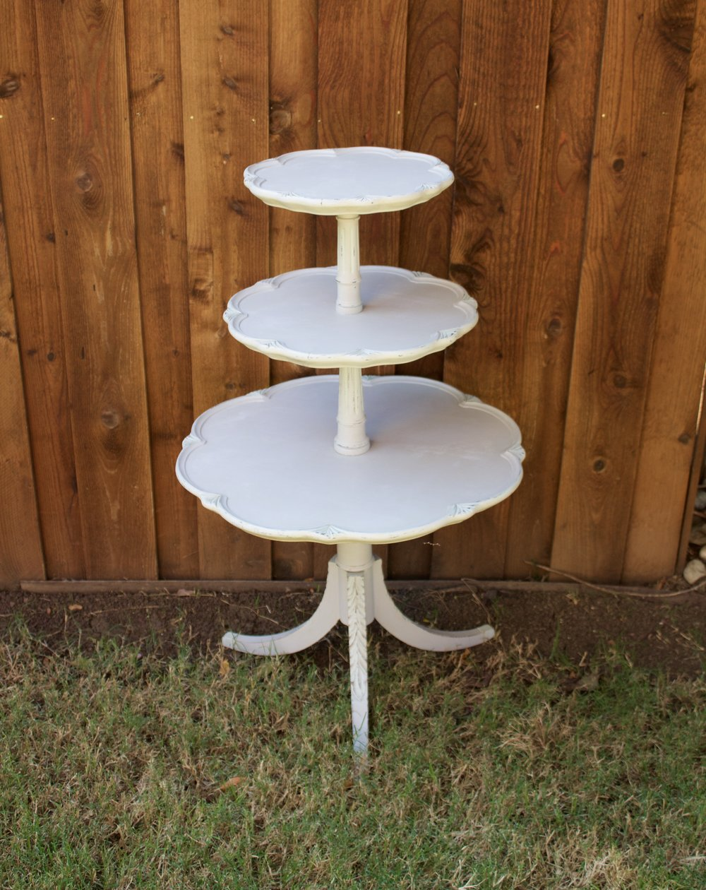 3 Tier Table makes a great cupcake display! Gray with mint accents $50 rent/185 purchase