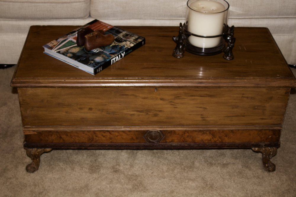 Beautiful blanket chest makes a great coffee table $100 rent