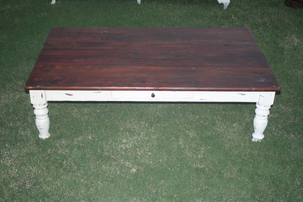 Farmhouse Coffee Table $125 rent/ $300 for purchase