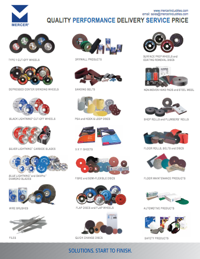 Download Mercer Abrasives product line card (PDF)