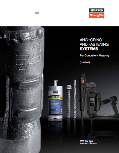 Download the Simpson Strong-Tie glazing anchor catalog (PDF)