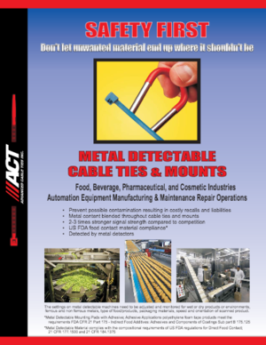 ACT Detachable Metal Cable Ties