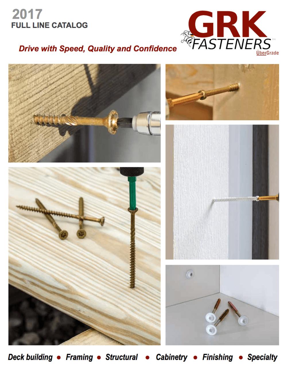 GRK Fasteners 2017 Catalog