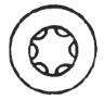 6 Lobe TorxDrive Screws