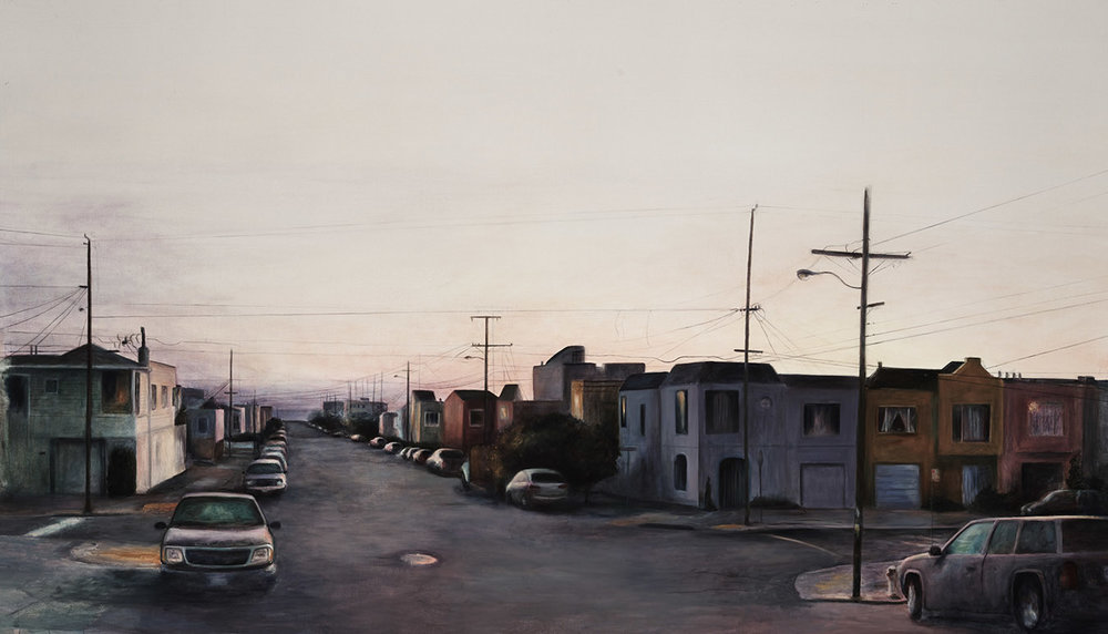 44th and Quintara  2014 oil on linen 66 x 126 in.