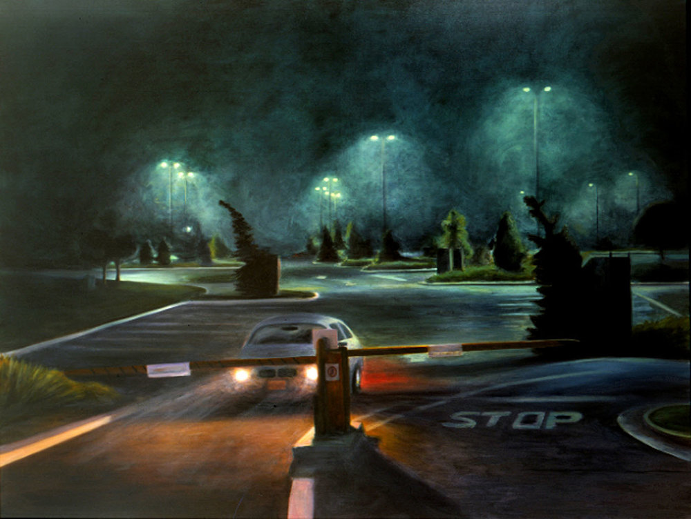 Escape from the Zoo  2003 oil on linen 71 x 96 in.