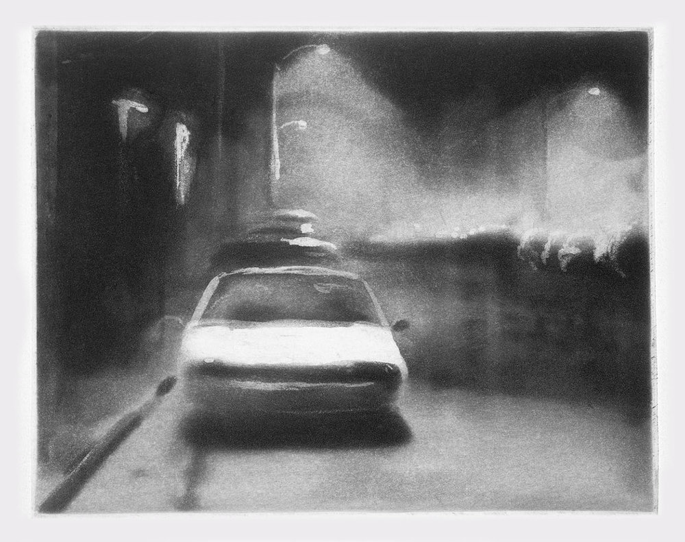 Parked Car  1994 spit-bite aquatint 4 x 5 in.
