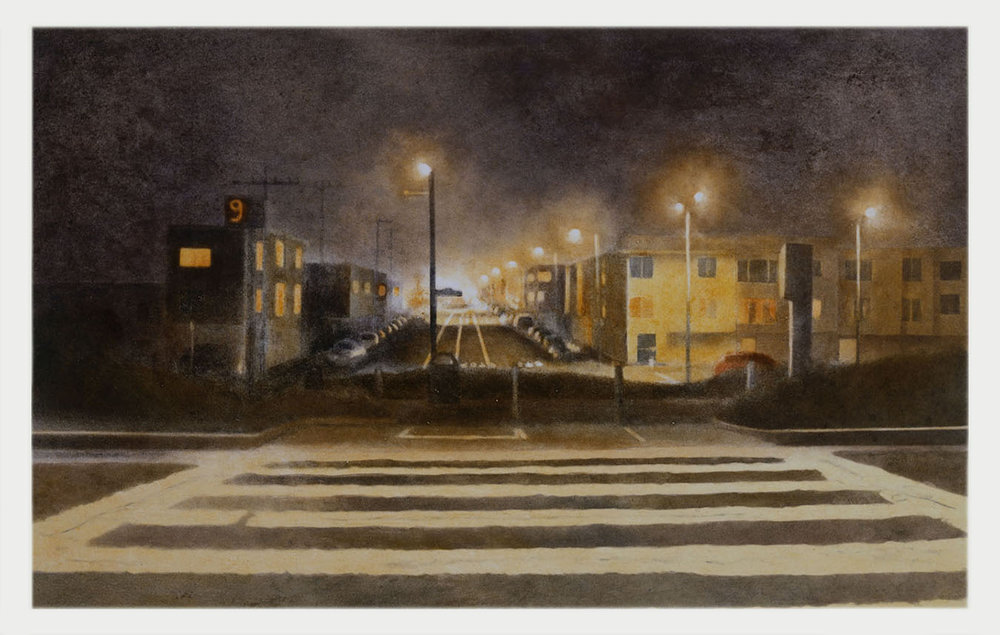 Crosswalk  2006 monotype 23 x 34 in.