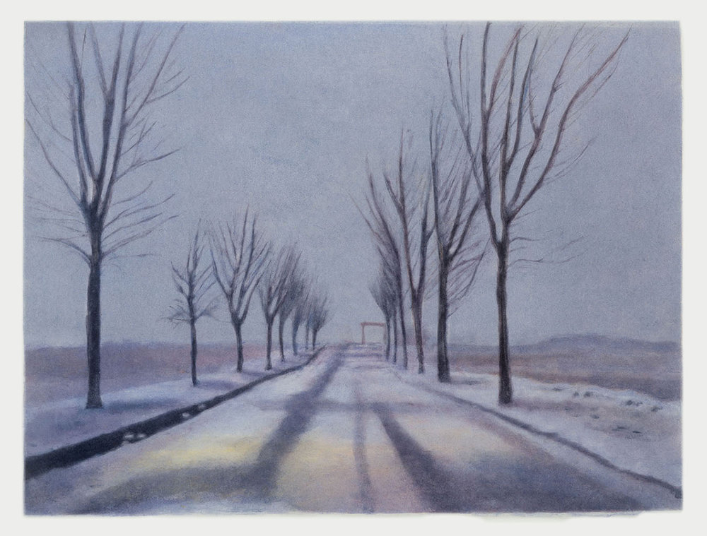 Winter Wyoming  2004 monotype 9.5 x 14 in.