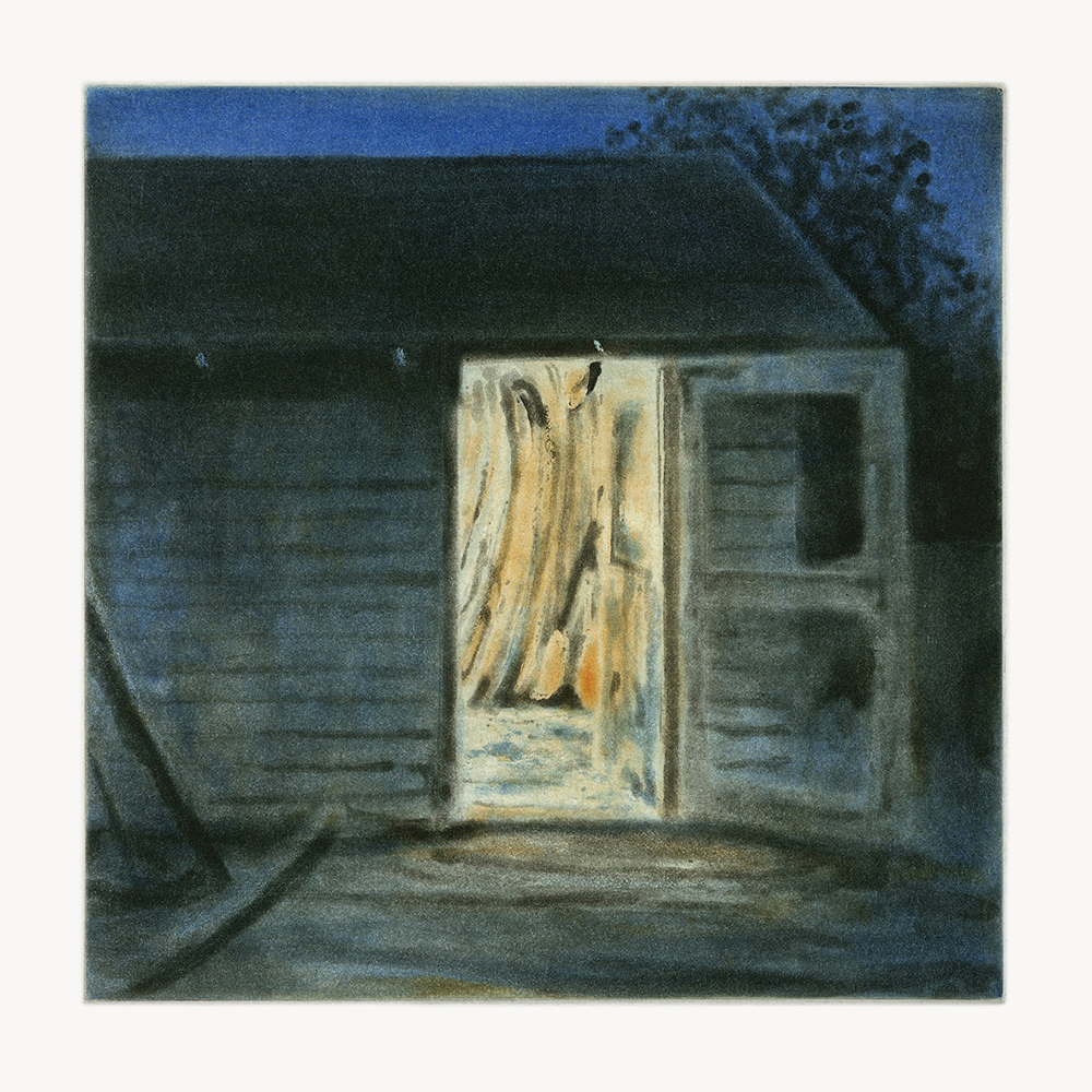 Shack  2009 spit-bite aquatint 6 x 6 in.
