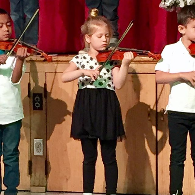 My girl's first violin concert!