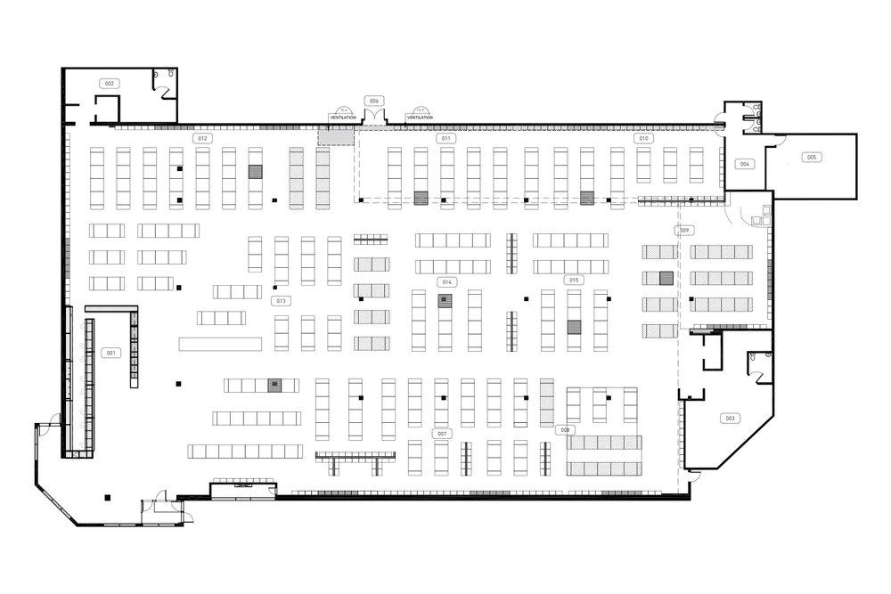 Plan d'aménagement d'une boutique de vêtement grande surface
