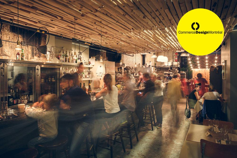Le restaurant Manitoba, situé dans le Mile-Ex à Montréal, c'est un peu de forêt dans les assiettes, de la nature dans les verres, du bois, du béton et de la brique dans l'espace.