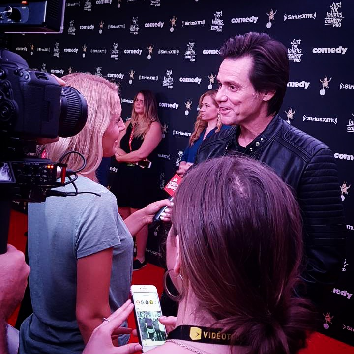 Lisa interviews Jim Carrey at  Just For Laughs.