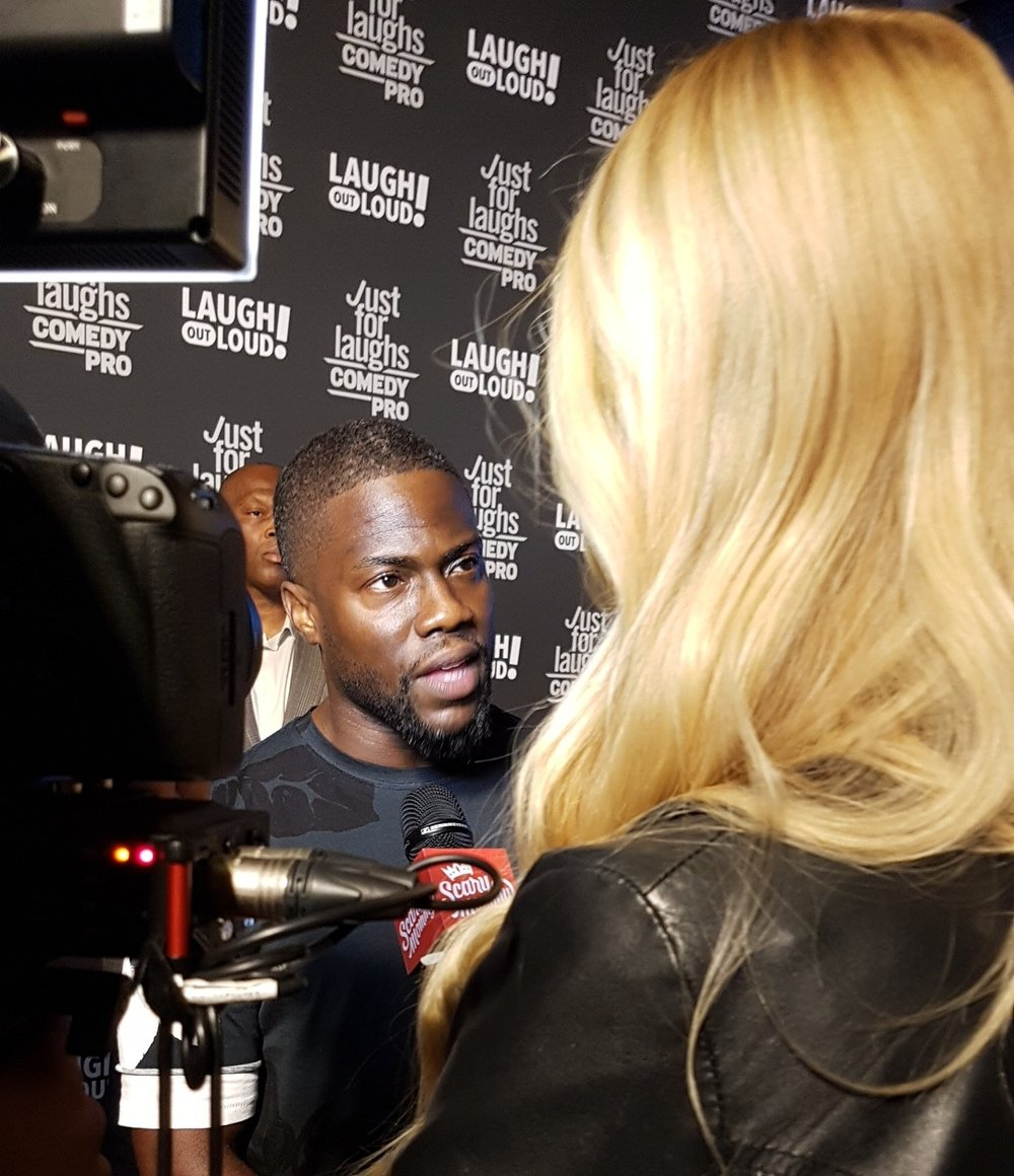 Interviewing Kevin Hart at  Laugh Out Loud