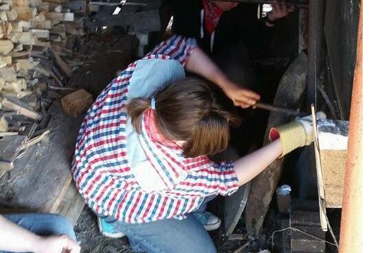 MacKinley in her element, working