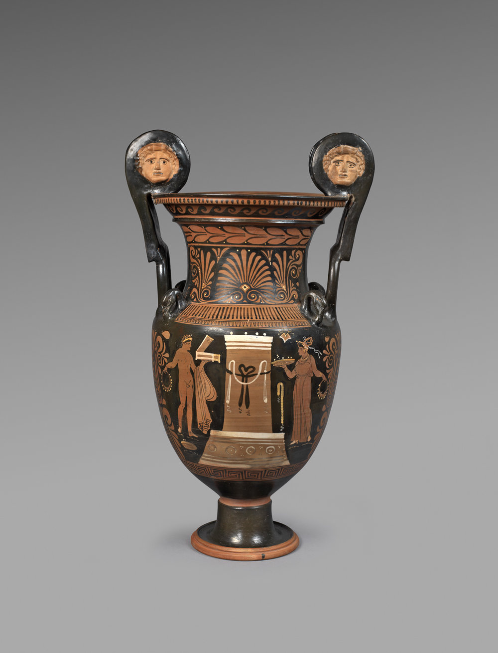 Apulian red-figure volute krater , Attributed to the painter of Copenhagen 4223, circa 330-320 BC, Terracotta, Height 73.5 cm, Courtesy of Rupert Wace Ancient Art Ltd, London