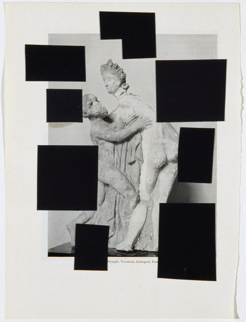 Richard Hawkins,  Union of Eroticized Gender with Abstract Overlay / Surplus , 2006, Collage, 29.2 x 21.6 cm, Courtesy Corvi-Mora, London