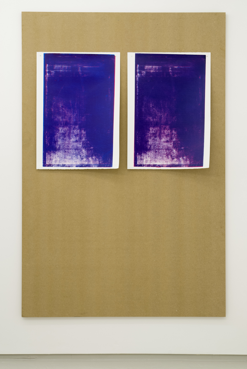 Jack Brindley,  Swansong (mesh entropy) II  and  III , 2014, Acrylic on canvas, 60 x 42 cm