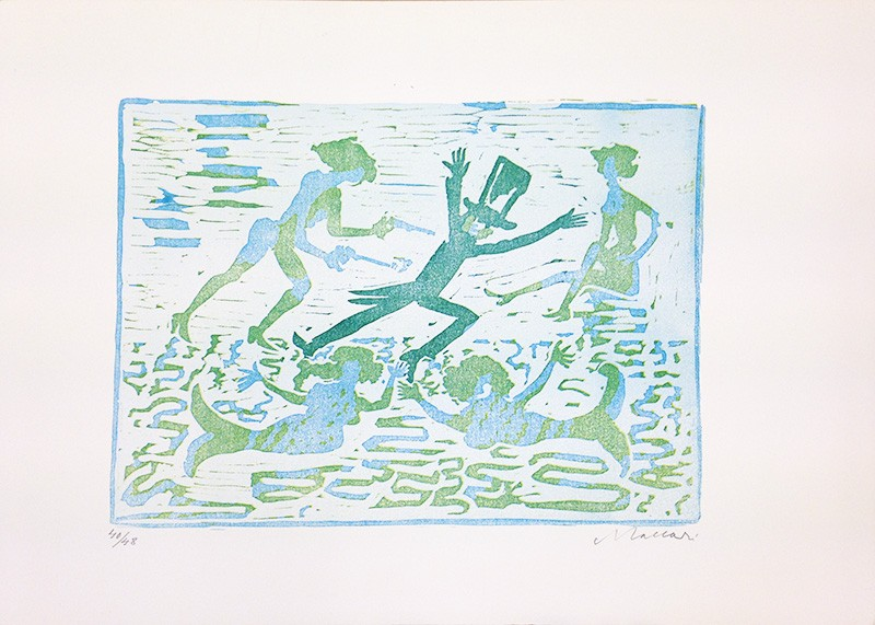 Mino Maccari,  Untitled , 1968, Print, 35.5 x 50 cm