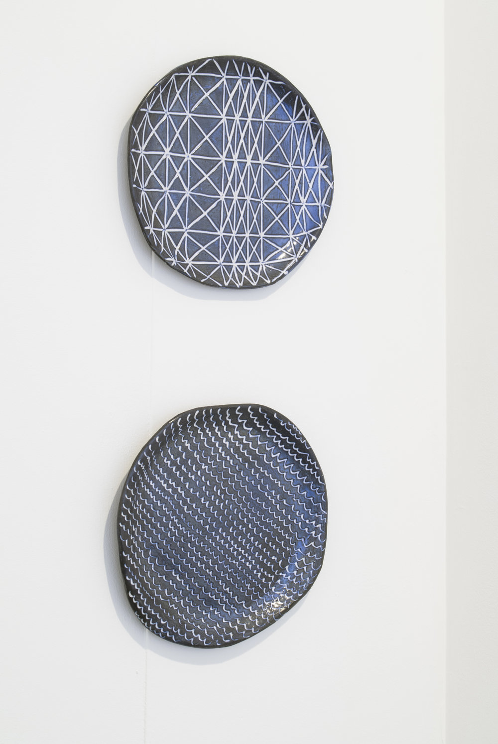 Katie Schwab,  Nisha  (above),  Alexei  (below), glazed stoneware