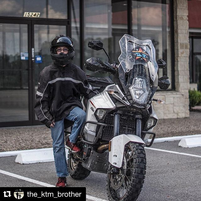 "@the_ktm_brother teaching the next generation of ADV riders about that @ktmusa life! #Repost @the_ktm_brother with @repostapp ・・・ He just stared at me and said ""Dad I got this"" and I said alright little man hit it 😂😂😂 I think I'm responsible for his ADV addiction."