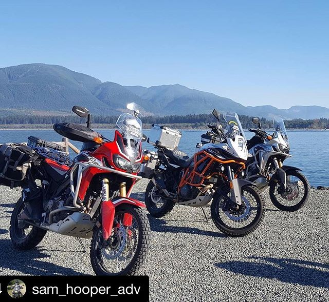 #Repost from @sam_hooper_adv repping his @wa_adv_riders see through windscreen decal @repostapp ・・・ What a nice day! Vancouver Island with @gent_adv and @kyledmccoy