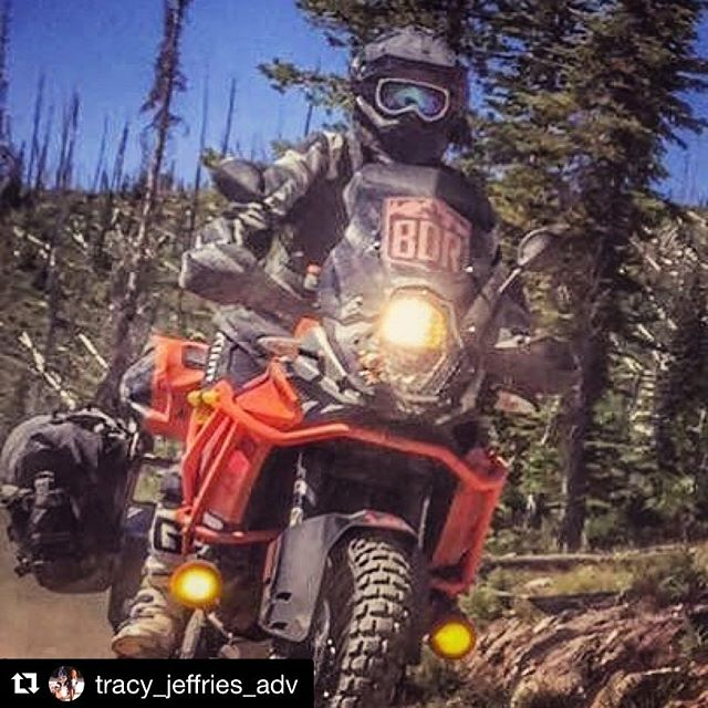 @tracy_jeffries_adv rockin the @ridebdr windscreen decal! Order yours on our website for your next BDR ride and 20% of each purchase goes back to Back Country Discovery Routes to support their effort! #Repost @tracy_jeffries_adv with @repostapp ・・・ #motoscreenz #ktm1190 #ridebdr #idbdr
