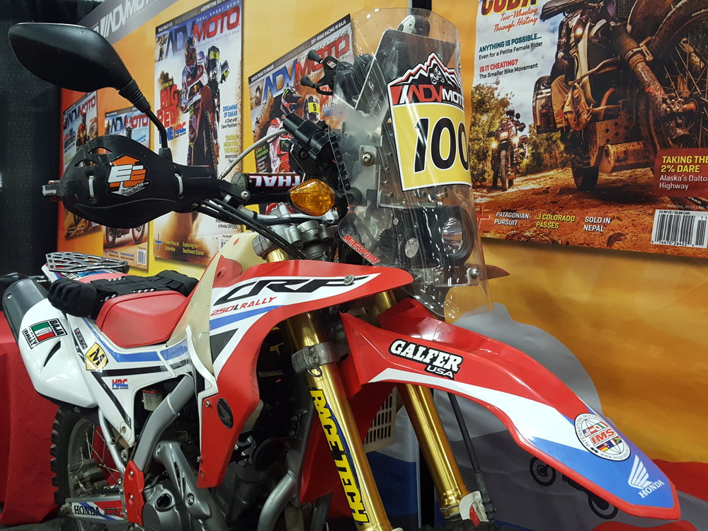 ADVmoto Magazine's CRF 250L Project RALLY Bike with Custom Motoscreenz Rally Decal to celebrate the Magazine's 100th issue!  We can produce your next Rally Decal or See Through Motoscreenz. Click the link above for more information.