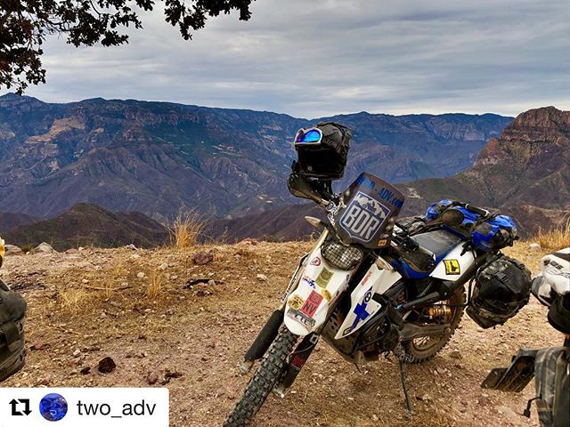 Killer shot by @two_adv with our see through @ridebdr windscreen decal! #Repost @two_adv ・・・ Copper Canyon Mexico