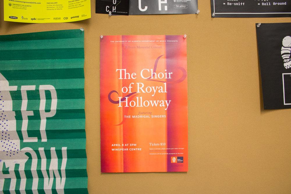 The Choir of Royal Holloway Marketing Design