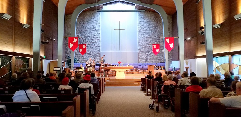 Worship Service in Bethel's sanctuary