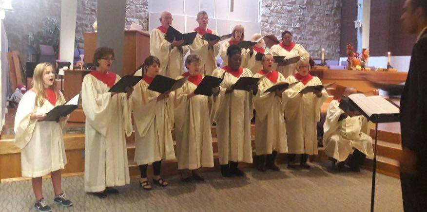 Chancel Choir singing at Bethel