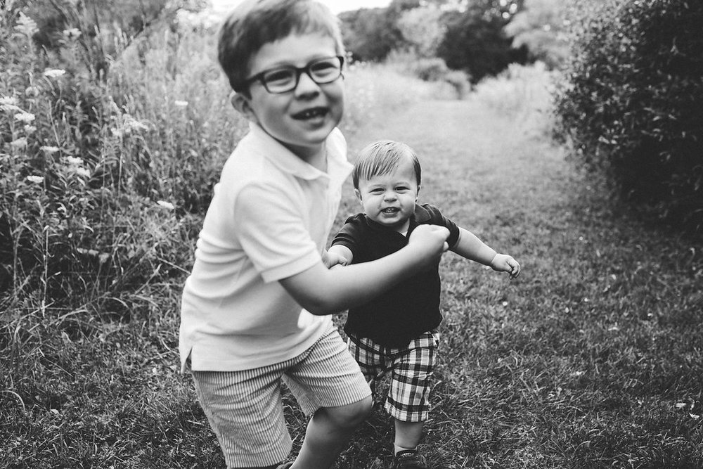 Sibling boys - candid child photography in Metro Detroit