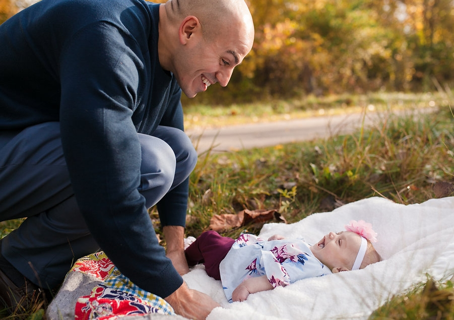 Dad and baby girl - lifestyle photography session Metro Detroit