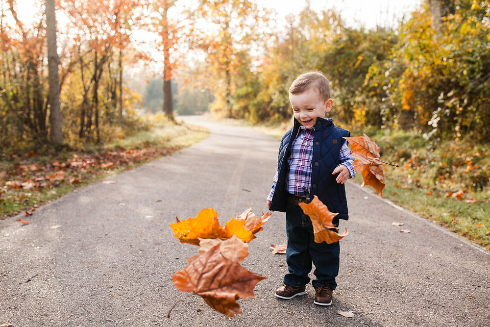 Fall photo shoot - child and family session - North Oakland County Michigan