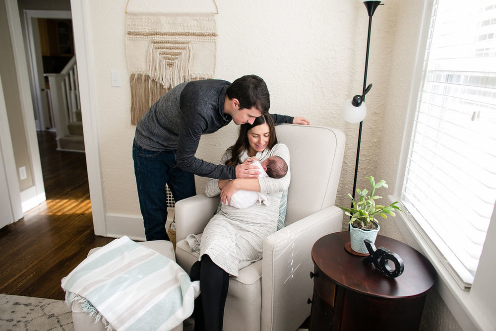 Newborn family photos