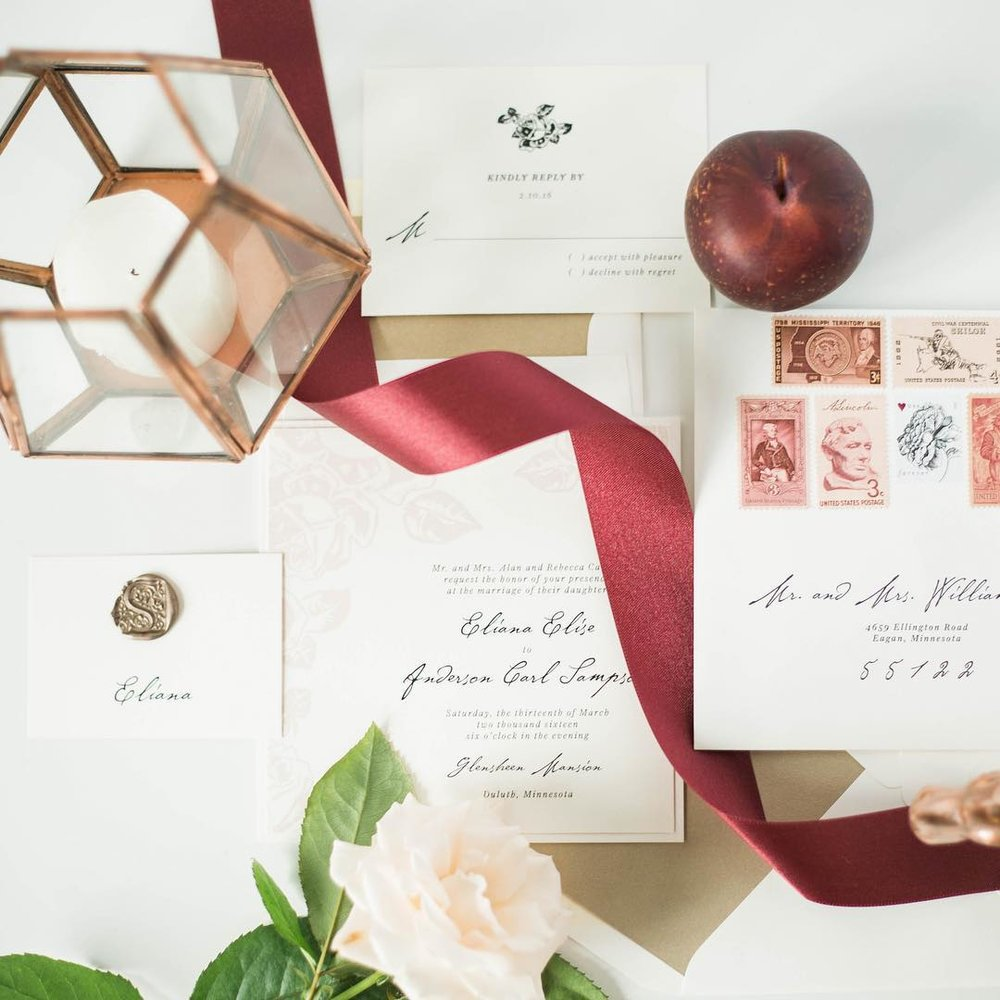 Vendor Highlight | Champagne Press — Laine Palm Designs | Wedding ...