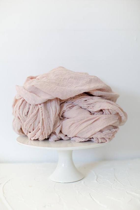 Blush Linen Table Runners