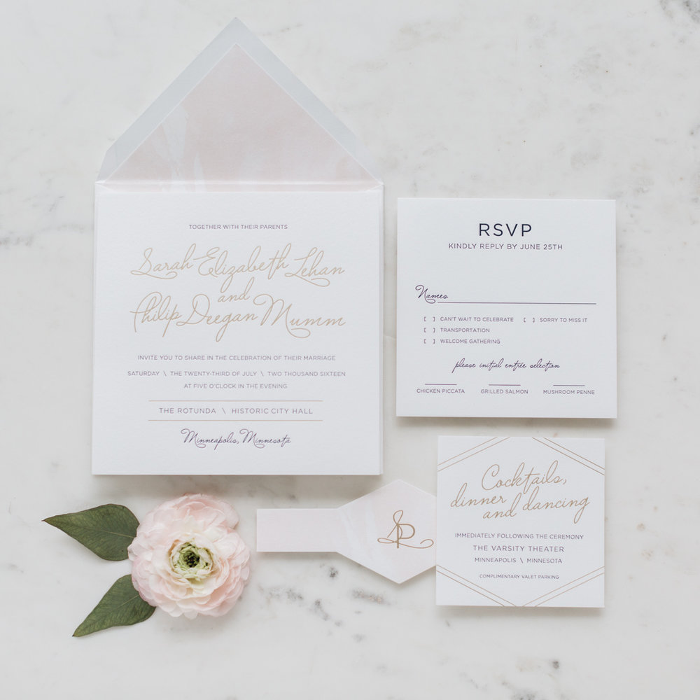 Jill Elaine | Wedding Stationary | Minneapolis