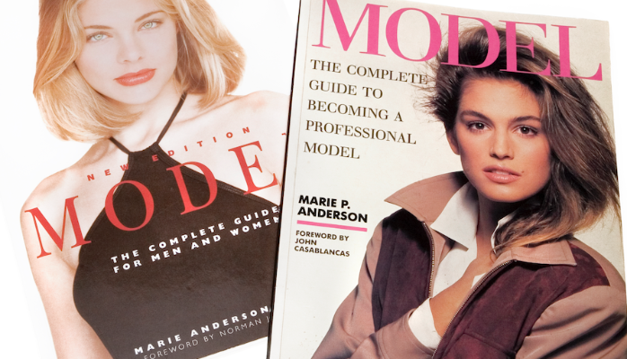The cover images show both of my internationally published AND sold out books. The second one, MODEL, The Complete Guide For Men and Women was published in 1996, also initially in London but with a new publisher. That cover girl, Jessica Mills.
